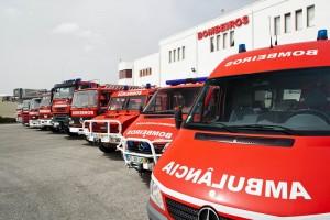 Flota vehículos BOMBEROS, Portugal